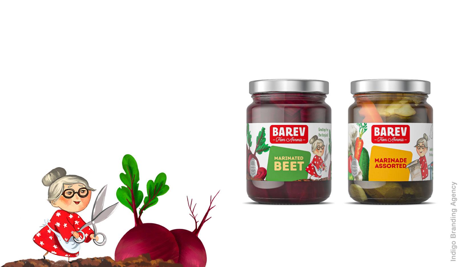 Barev Armenia jams preserves juices branding and packaging design for Hayasy Group by Indigo Branding