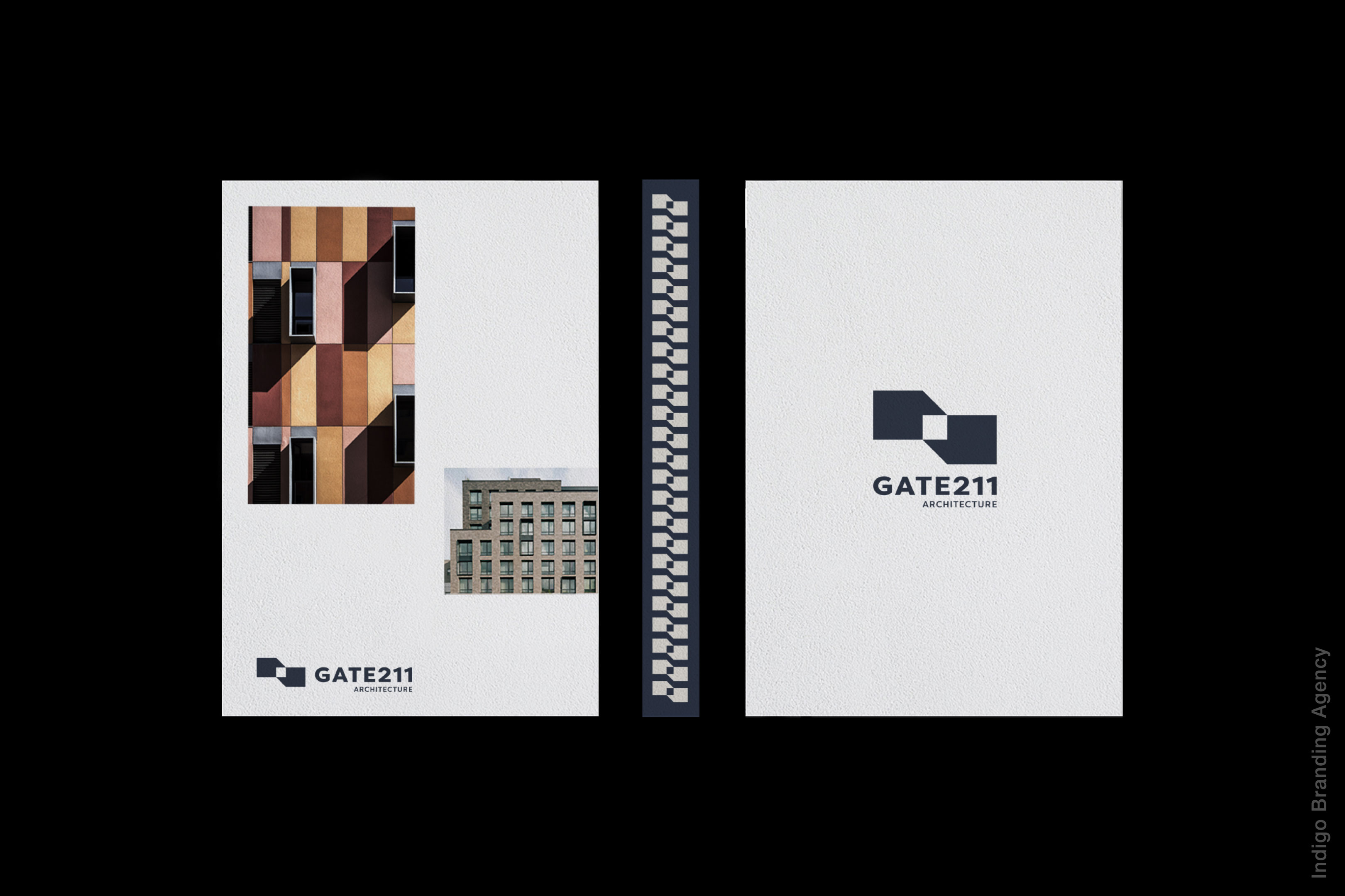 Gate 211 new york architectural studio branding and logo design by indigo branding agency